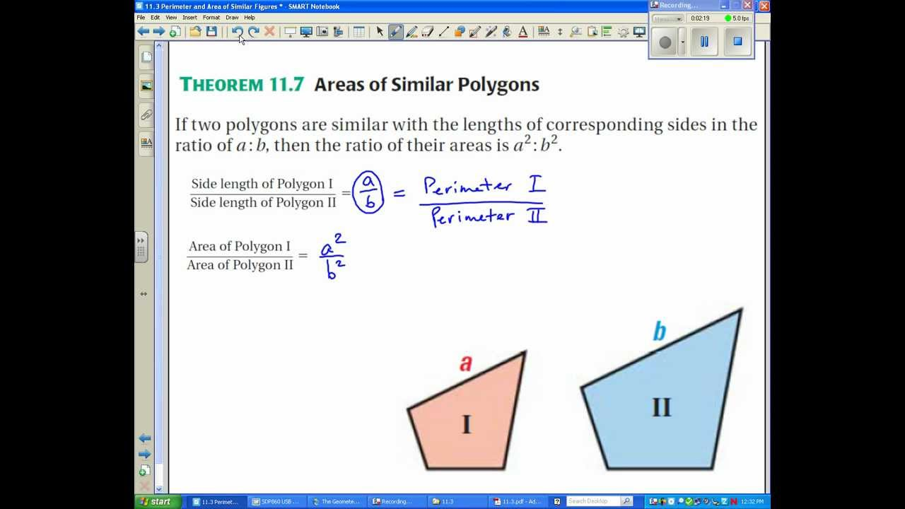 11.3 Perimeter and Area of Similar Figures.avi - YouTube
