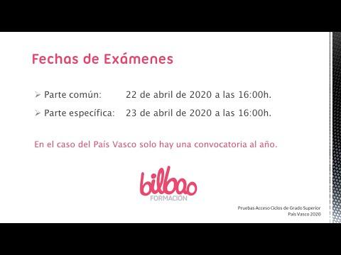 Pruebas Acceso Grado Superior Pais Vasco Academia Bilbao