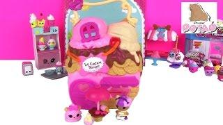 HTVS - Лалалупсі Іграшки Lalaloopsy Tinies Магазин Будиночок Морозива Розпакування. Ігри для