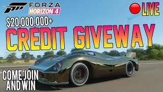 Forza Horizon 4 LIVE - HUGE CREDIT GIVEAWAY! *20M*- Open Lobby - Come WIN!