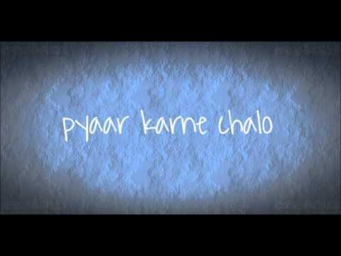 CHAL WAHAN JAATE HAIN(Cover) lyric - Shirley Setia -- `anisfit22`
