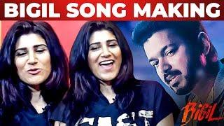 BIGIL: Singappenne Song Making - Shashaa Tirupati Reveals | Thalapathy Vijay | AR Rahman