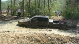 F-250 PowerStroke hitting a Mud Hole at Tuscaloosa Offroad, Crazy thumbnail