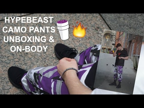 HYPEBEAST CAMO PANTS UNBOXING & ON-BODY