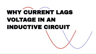 Why current lags voltage in an inductive circuit.