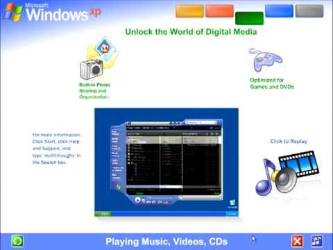 Windows XP Tour (Released Version) Walkthrough