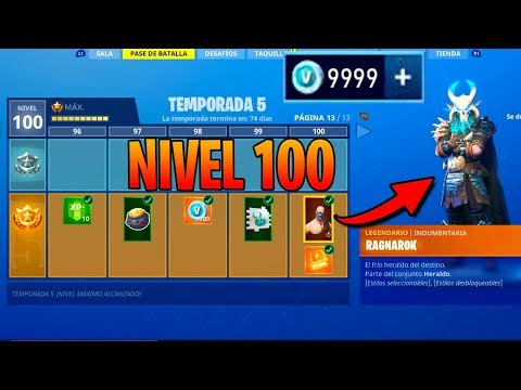 **TEMPORADA 5** SKIN NIVEL 100! TODO COMPRADO! FORTNITE: Battle Royale (Pase de Batalla)