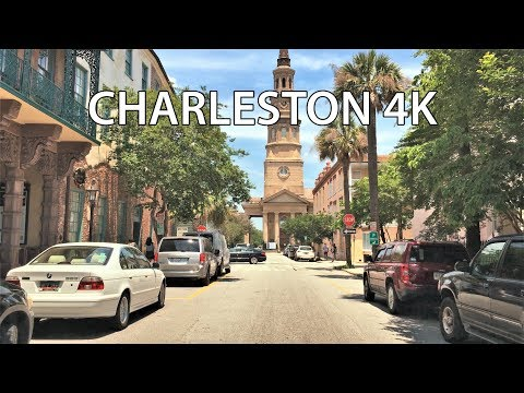 Charleston 4K - Historic City - Driving Downtown - USA