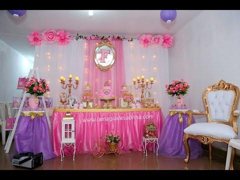 Decoraci n princesas disney show infantil princess youtube - Decoracion fiesta princesas disney ...