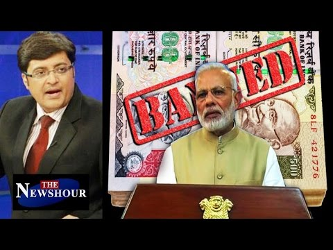 PM Modi's SURGICAL STRIKE On Black Money: The Newshour Debate (8th Nov)