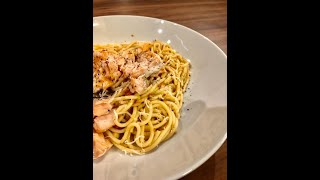 SIMON'S SALMON PASTA WITH PESTO ROSSO