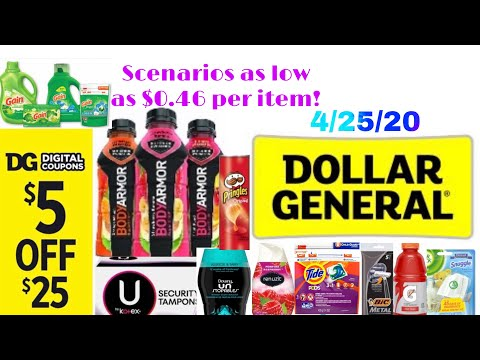 DOLLAR GENERAL 4/25/20 $5 Off $25 Scenarios 🤑 +Printable List!