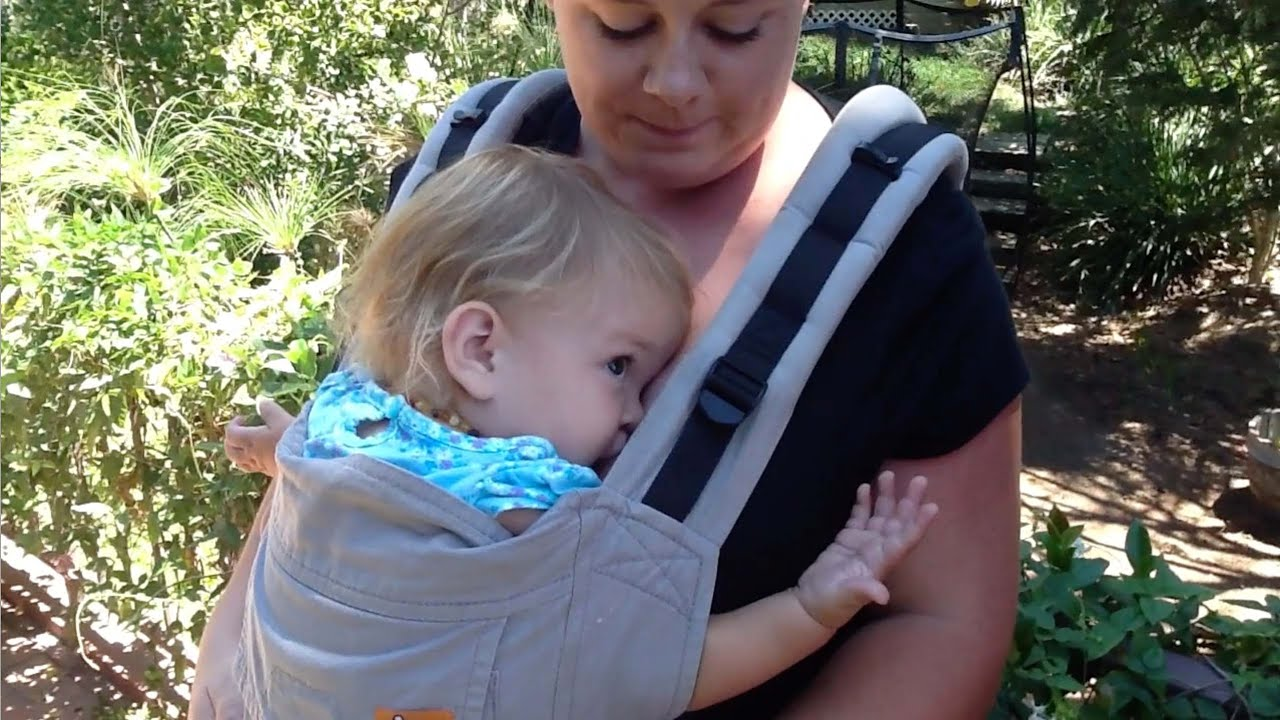 e29a96c5f90 Breastfeeding While Babywearing  Soft Structured Carriers - YouTube
