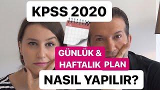 KPSS 2020 Günlük & Haftalık Çalışma Planı Nasıl Yapılır? | Hedef 90 üstü Puan