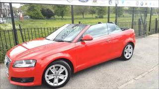 approved cars croydon audi a3 convertible in brilliant red
