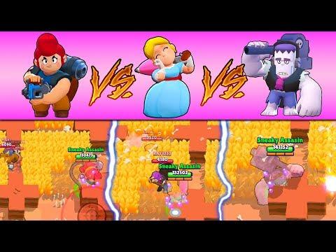 FRANK VS PAM VS PIPER IN BIG GAME :: Trolling With Epic Bosses | Brawl Stars Gameplay