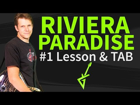 How To Play Riviera Paradise Guitar Lesson & TAB - Stevie Ray Vaughan
