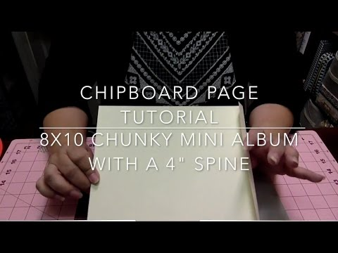 🎞👉SHABBY CHIC LACE MINI ALBUM TUTORIAL👈🎞  CHIPBOARD PAGES