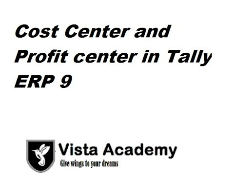 COST CENTER AND PROFIT CENTER WITH EXAMPLE IN TALLY ERP