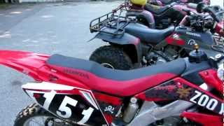 honda atv's and dirt bike start up