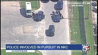 Chopper5: North Kansas City pursuit and standoff