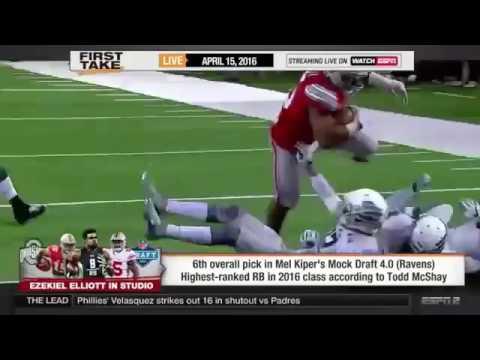 ESPN First Take Ezekiel Elliott Talks About OSU  NFL Draft1