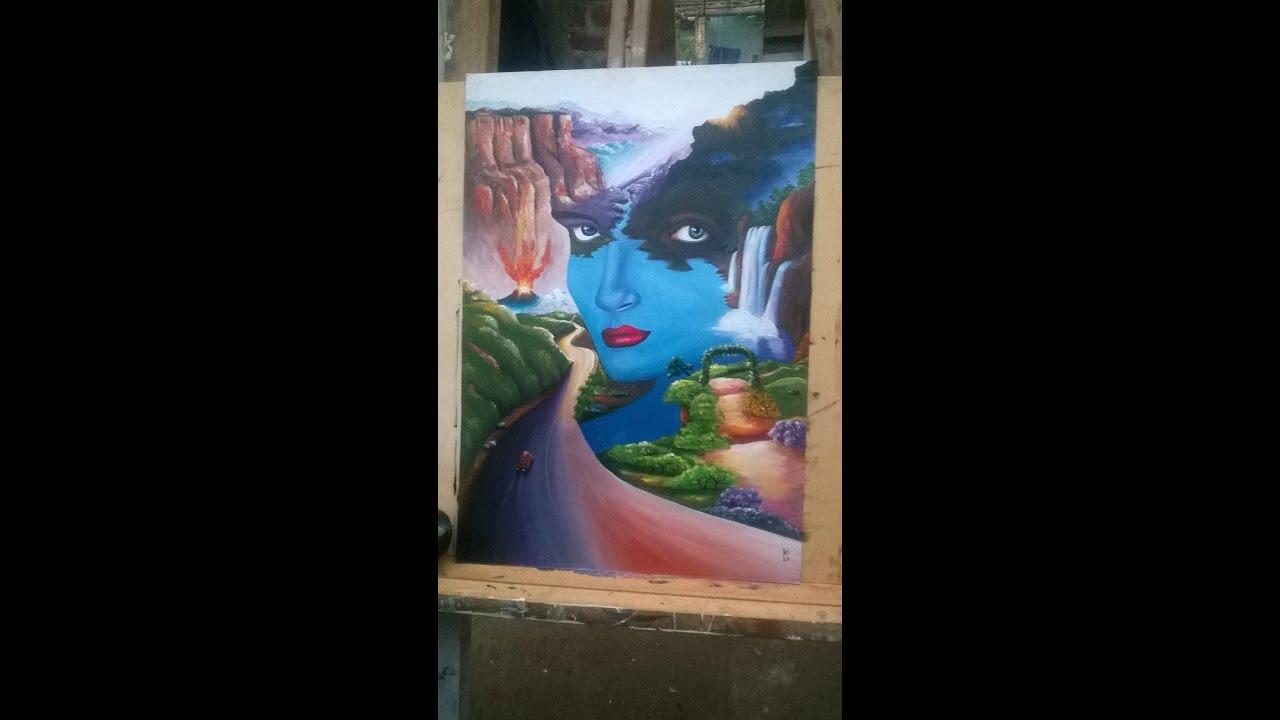 Como pintar al oleo paisaje surrealista artperu andino youtube - Como pintar cuadros faciles ...