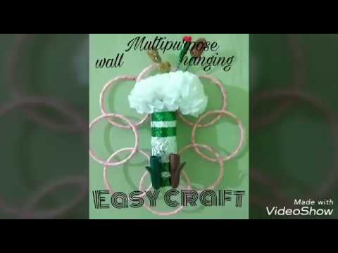 Beautiful multipurpose wall hanging by Archi Sharma | Best out of waste | Easy Craft