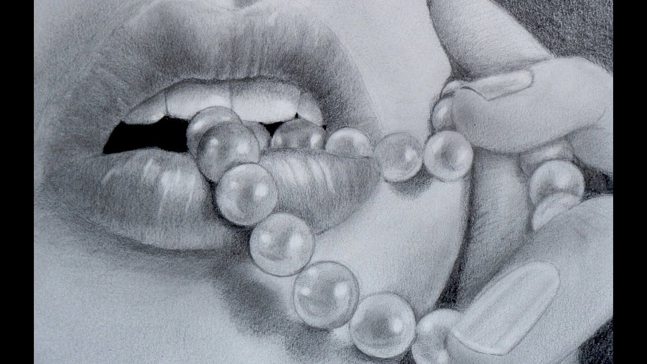 How To Draw A Mouth With Pearls