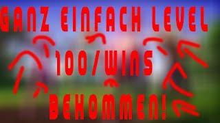 FORTNITE EASY LEVEL 100/ Wins get GERMAN/ENGLISH BUG GLITCH!
