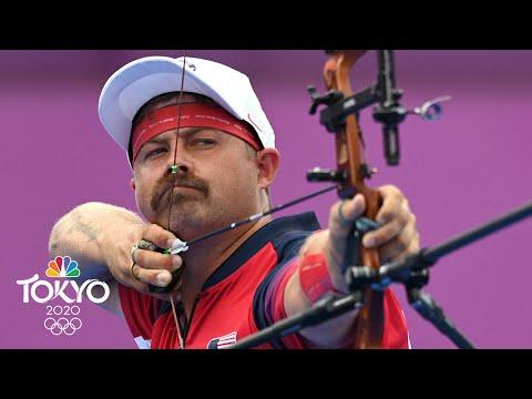Download U.S.' Brady Ellison, world No. 1, upset in archery quarterfinals   Tokyo Olympics   NBC Sports