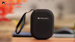 Zebronics ZEB-SAGA Ultra Portable Bluetooth Wireless Speaker With Built in FM/ Call Function (Black)