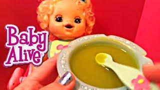 My Baby Alive Doll Aleasha Feeding