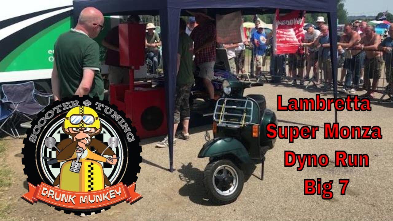 Lambretta Super Monza Dyno Run - The Big 7 National Scooter Rally June 2019