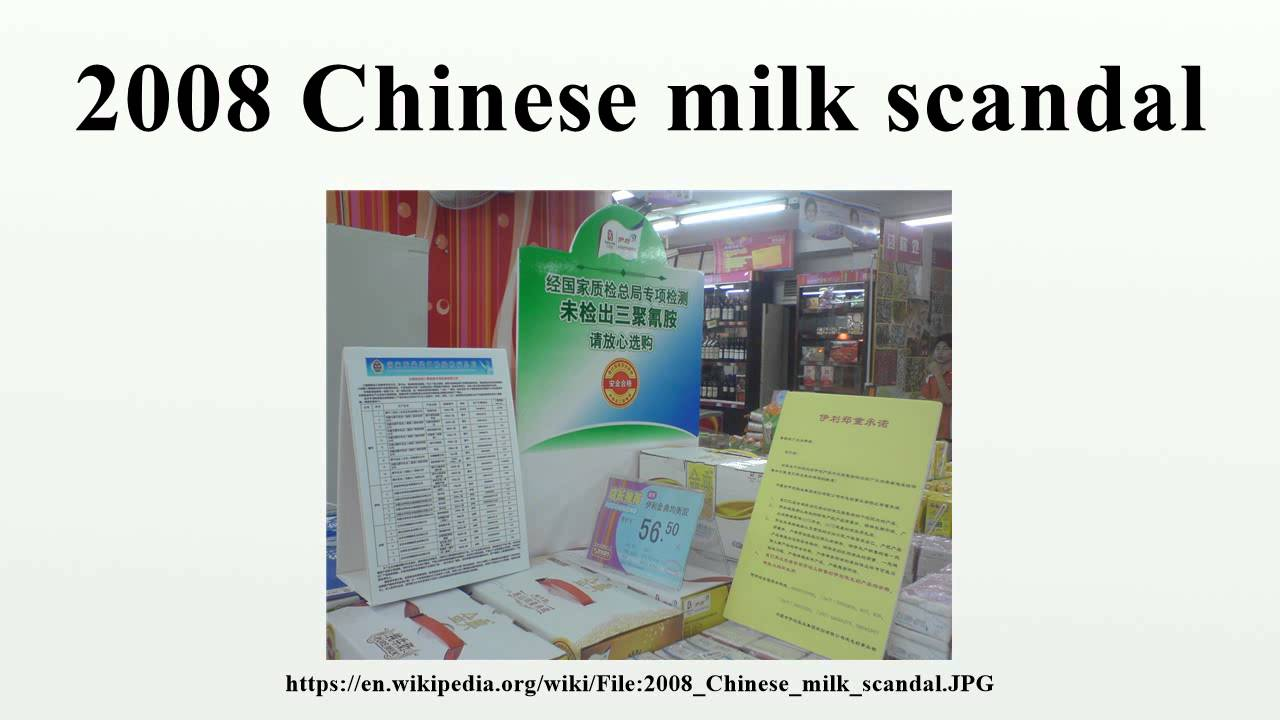 2008 chinese milk scandals essay Independent research agencies reported violations occurred in most chinese  such as using infant milk  was closely tied with the scandals about abuse of.