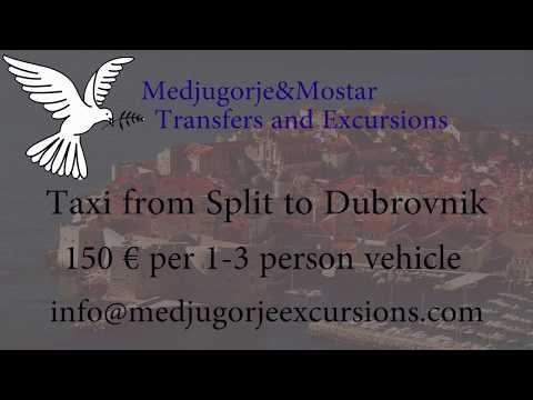 Taxi transfer from Split to Dubrovnik