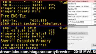 01/10/18 PM Niagara County Police & Fire Scanner Stream Fire Wire