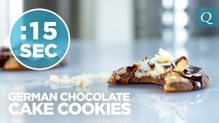 German Chocolate Cake Cookies - #15secondrecipe