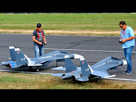 GREAT RC JET MODEL SHOW WITH 2X SUKHOI SU-30 MK ELSTER JET T