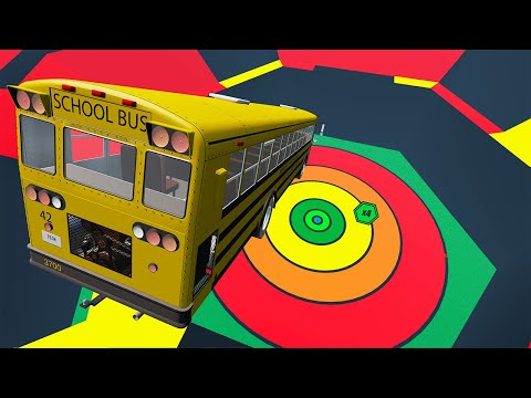 School Bus Crashes & Jumps #106 Bus vs Suspension Bridge – BeamNG.Drive