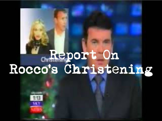 Report On Madonna & Guy\'s Christening For Son Rocco