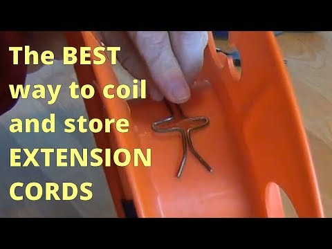 The BEST Way To Coil And Store Extension Cords!