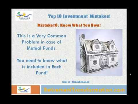 Top 10 Investment Mistakes You Should Avoid - Financial Tip for Retirement!