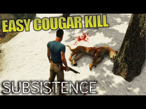 How To Kill Cougars EASY! | Subsistence | Let's Play Gameplay | E09