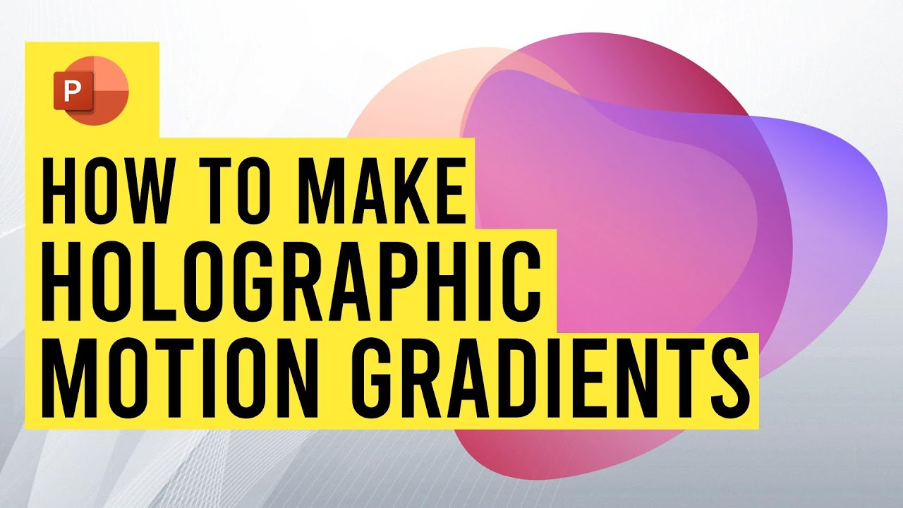 How to create motion gradients in PowerPoint! {tutorial}