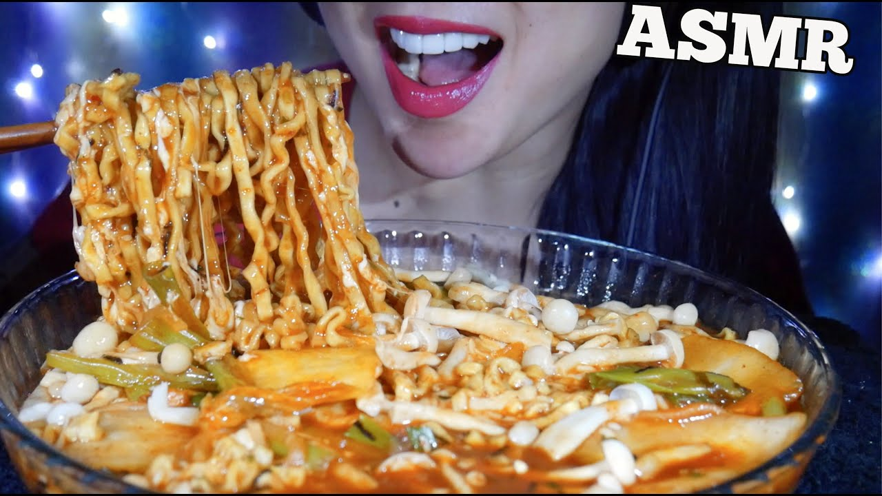 Asmr Cheesy Spicy Noodles Mushrooms Kimchi Green Onions Eating Sounds Minimal Talking Sas Asmr Youtube I whipped up the sauce by lightly toasting 4 tablesp. asmr cheesy spicy noodles mushrooms kimchi green onions eating sounds minimal talking sas asmr