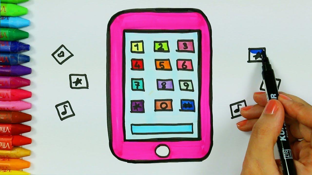 Cep Telefonu Ve Sayılar çizim Nasıl Yapılır çocuk Ve Bebek