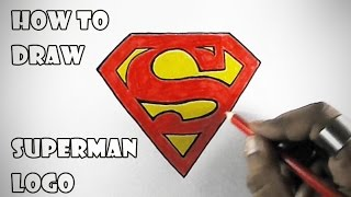 How to Draw Superman Logo | Easy step by step Drawing for Kids