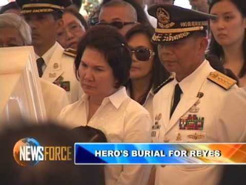 "April Abello - GNN ""Hero's burial for Angelo Reyes"""