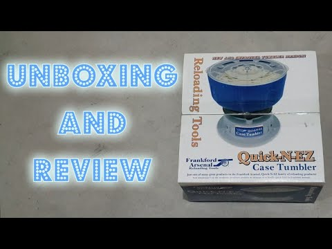 Quick N EZ Case Tumbler Unboxing And Review For Nuts And Bolts